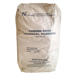 Chromium oxide Cr2O3 99%, Nga, 25kg/bao